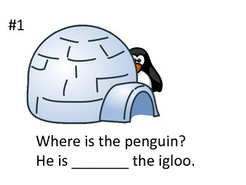 Winter Penguin Preposition Book