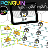 Winter Penguin Sight Words Flashcards