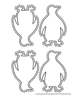Winter Penguin Template