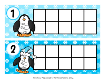 Winter Penguin Ten Frame Cards