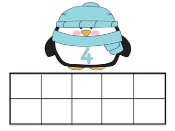 Winter Penguin Ten Frames