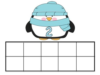 Winter Penguin Ten Frames Addition & Subtraction Turn Around Number Facts Task