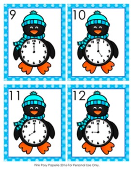 Winter Penguin Time to the Hour Hunt the Room