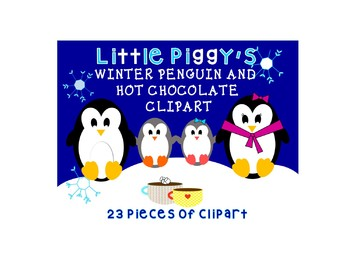 Winter Penguin and Hot Chocolate Clipart