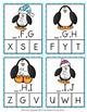 Winter Penguins Alphabet Letter Sequencing Clip Cards