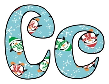 Winter Penguins BB letters