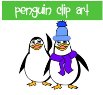 Winter Penguins Clip Art