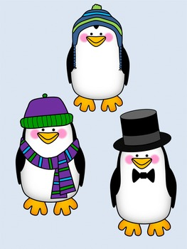 Penguins Clip Art - Winter Set {By Busy Bee Clip Art}