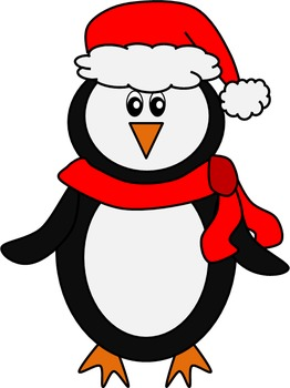 Winter Penguins Clip Art Set - 14 images for personal or commercial use