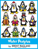 Winter Penguins Clip art by Brent Ragland