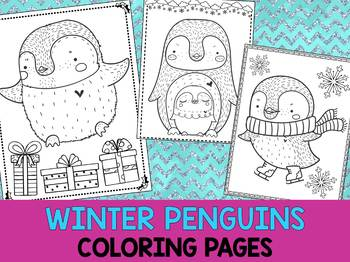 Winter Penguins Coloring Pages - The Crayon Crowd, Christmas