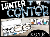 Winter Penguins Literacy Center - Building Dolch Sight Word Center