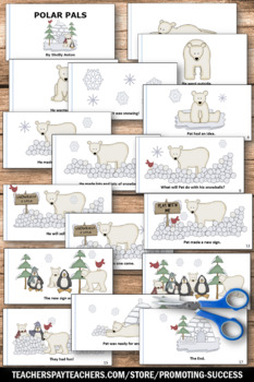 Penguins and Polar Bears Book and Puppets for Winter Activities