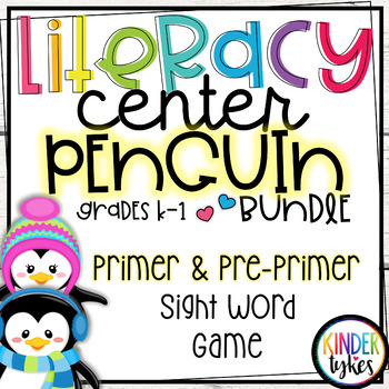 Winter Penguins Sight Word Puzzles Bundle (Pre-Primer and Primer)
