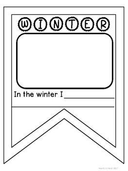 Winter Pennant Craftivity K-3