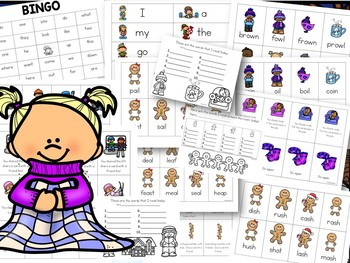 Phonics Worksheets and Games for Winter