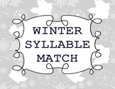 Winter Phonics Center (Syllables)
