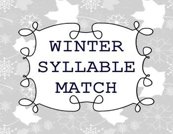 Winter Phonics Center (Syllables)