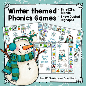 Winter Phonics Games (Blends and Digraphs)