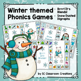 Blends and Digraphs- Winter Themed Phonics Game