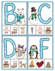 Winter Phonics:  Matching Letters and Sounds Clip Cards