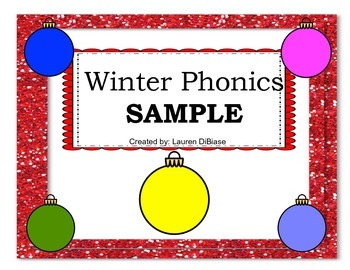Winter Phonics Packet Sample!