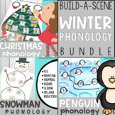Winter Phonology Bundle: Penguin, Snowman, and Christmas T