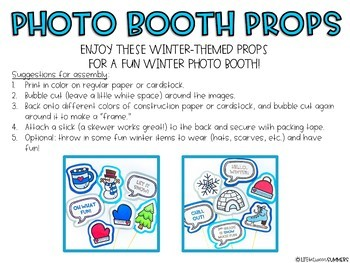 Winter Photo Booth Props