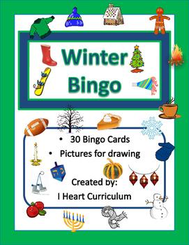 Winter Picture Bingo