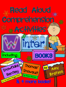 Winter Picture Book CCSS aligned Comprehension and Vocabulary Activities