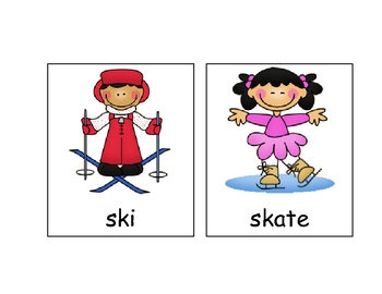 Winter Picture Cards for Word Wall