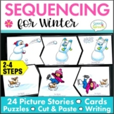 Story Sequencing Activities for Winter with Retell and Writing