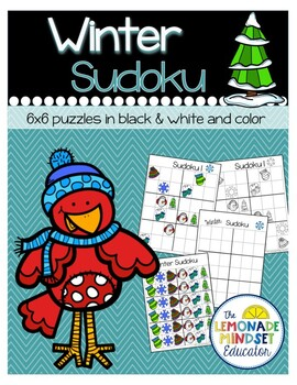 Winter Picture Sudoku Puzzles 6x6