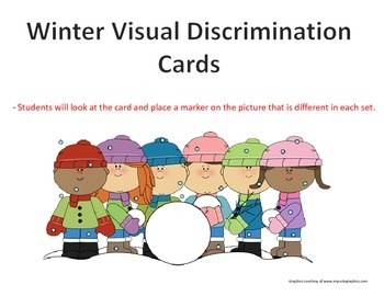 Winter Picture Visual Discrimination Cards
