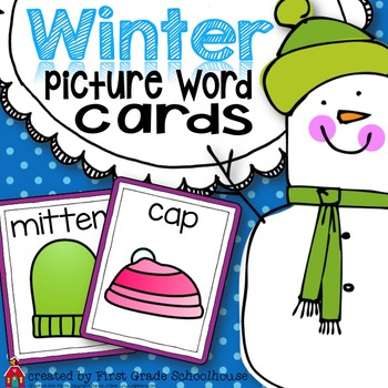 Winter Picture Word Cards