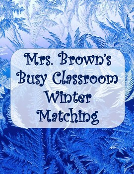 Winter Picture and Word Match