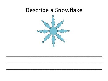 Winter Pictures Describing Book