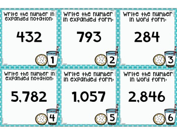 FREE Winter Place Value Task Cards