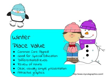 Winter Place Value Bundle