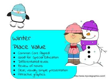 Winter Place Value Bundle
