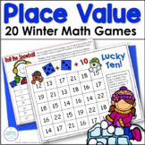 Winter Place Value Games for First Grade