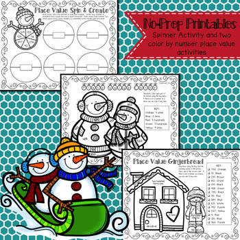 Winter Place Value No-Prep Printable Packet