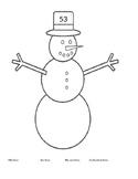 Winter Place Value Snowmen 1.NBT.B.2