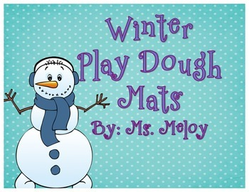 Winter Play-Doh Number Mats