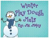 Winter Play-Doh Number Mats