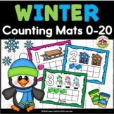 Winter Play Dough Counting Mats 0-10