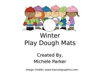 Winter Play Dough/Play-Doh/Playdough Mat FREEBIE