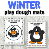 Winter Play Dough Mats for Fine Motor Centers