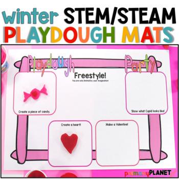 Winter STEM Play Dough Mats