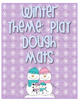 Winter Play dough 10 frame Mats  1-20